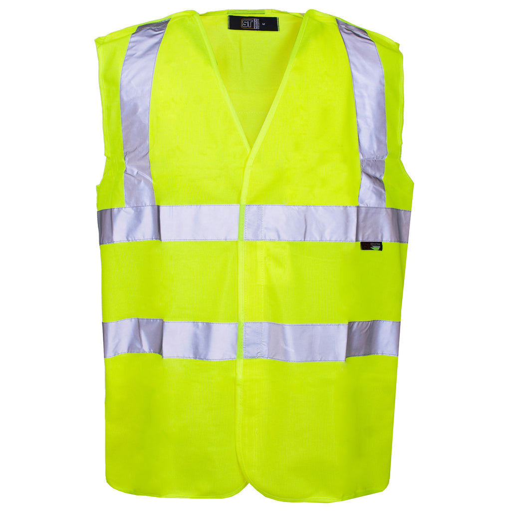 Supertouch Hi Vis Pull Apart Vest - Yellow - Worklayers
