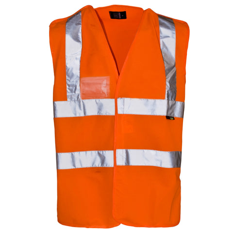 Supertouch Hi Vis Pull Apart Vest - Orange - Worklayers