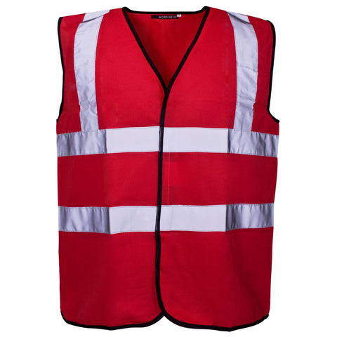 Supertouch Hi Vis Vest - Red - Worklayers