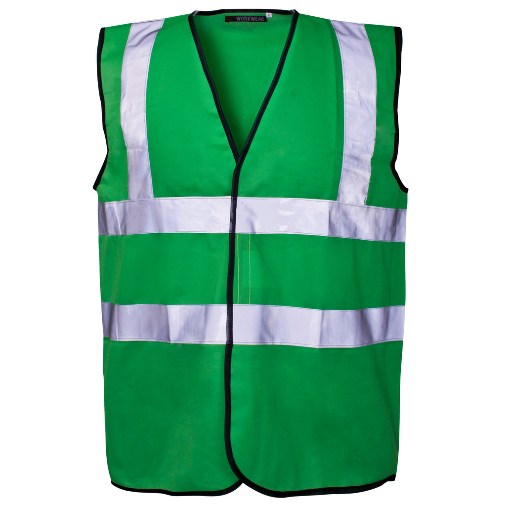 Supertouch Hi Vis Vest - Green - Worklayers