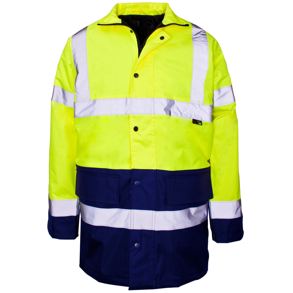 Supertouch Hi Vis Two Tone Jacket - Yellow/Navy - Worklayers