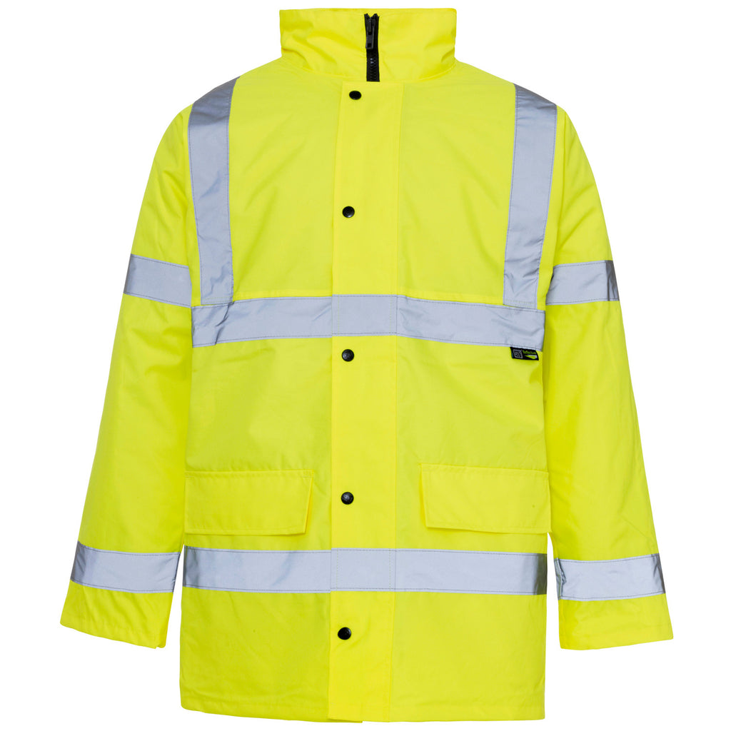 Supertouch Hi Vis Jacket - Yellow - Worklayers
