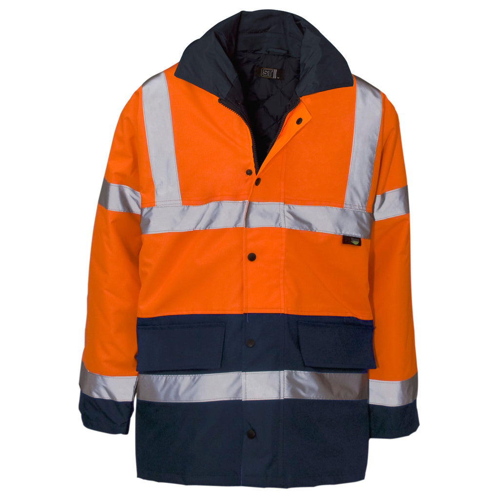 Supertouch Hi Vis Two Tone Jacket - Orange/Navy - Worklayers