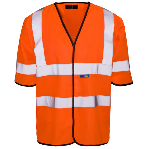 Supertouch Hi Vis Short Sleeve Vest - Orange - Worklayers