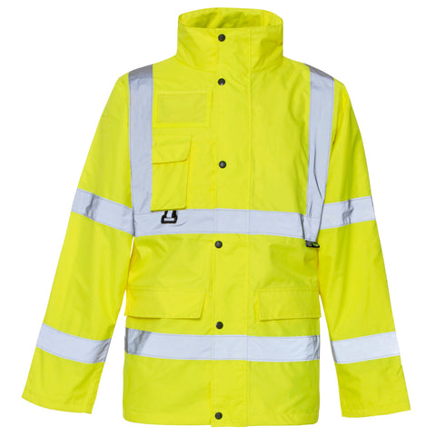 Hi Vis Breathable Jacket Supertouch  - Yellow - Worklayers