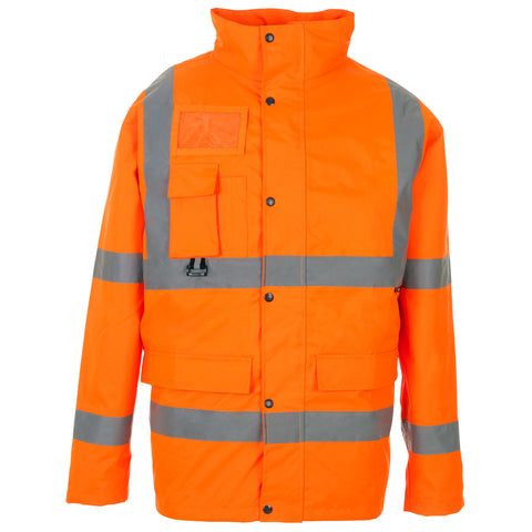 Hi Vis Breathable Jacket Supertouch - Orange - Worklayers