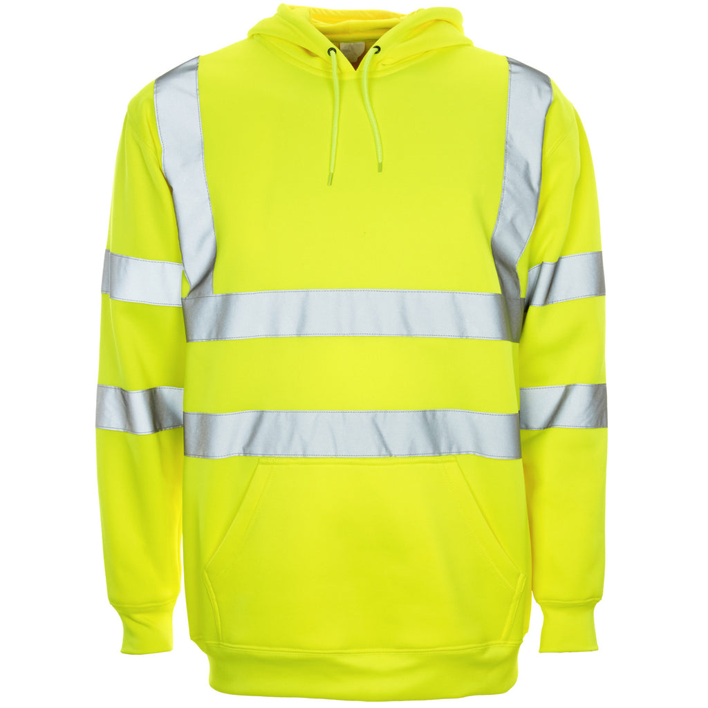 Supertouch Hi Vis Hooded Sweatshirt - Yellow - Worklayers