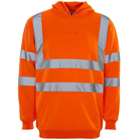 Supertouch Hi Vis Hooded Sweatshirt - Orange - Worklayers