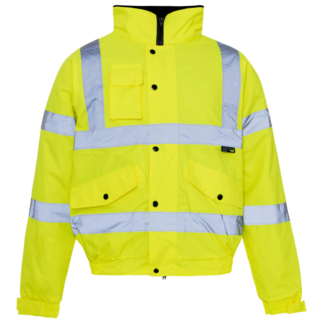 Supertouch Hi Vis Storm Bomber Jacket - Yellow - Worklayers