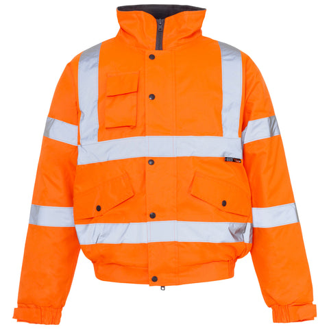 Supertouch Hi Vis Storm Bomber Jacket - Orange - Worklayers