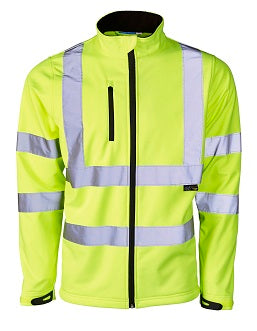 Hi Vis Soft Shell Jacket - Yellow