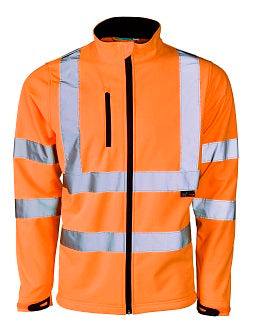 Hi Vis Soft Shell Jacket - Orange
