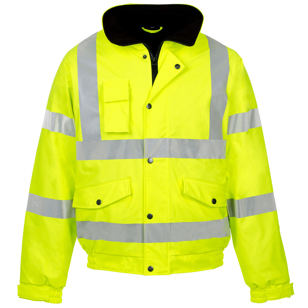 Supertouch Hi Vis Storm-Flex PU Bomber Jacket - Yellow - Worklayers