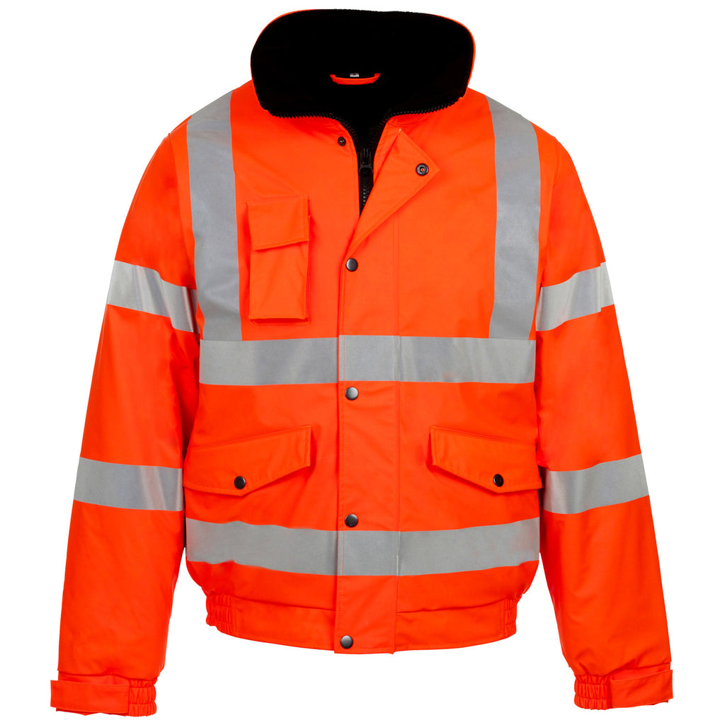 Supertouch Hi Vis Storm-Flex PU Bomber Jacket - Orange - Worklayers