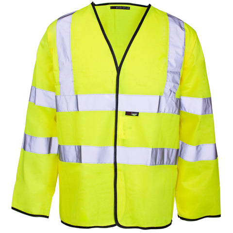 Supertouch Hi Vis Long Sleeve Vest - Yellow - Worklayers