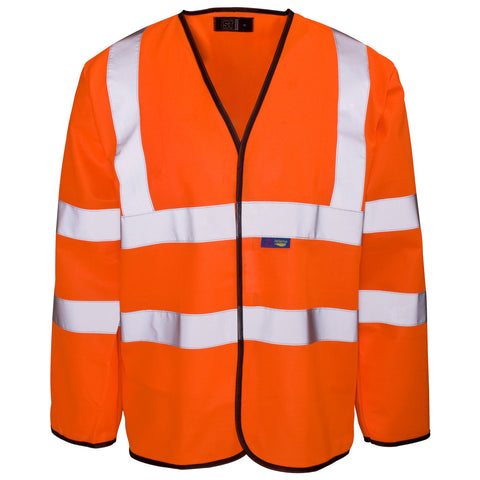 Supertouch Hi Vis Long Sleeve Vest - Orange - Worklayers