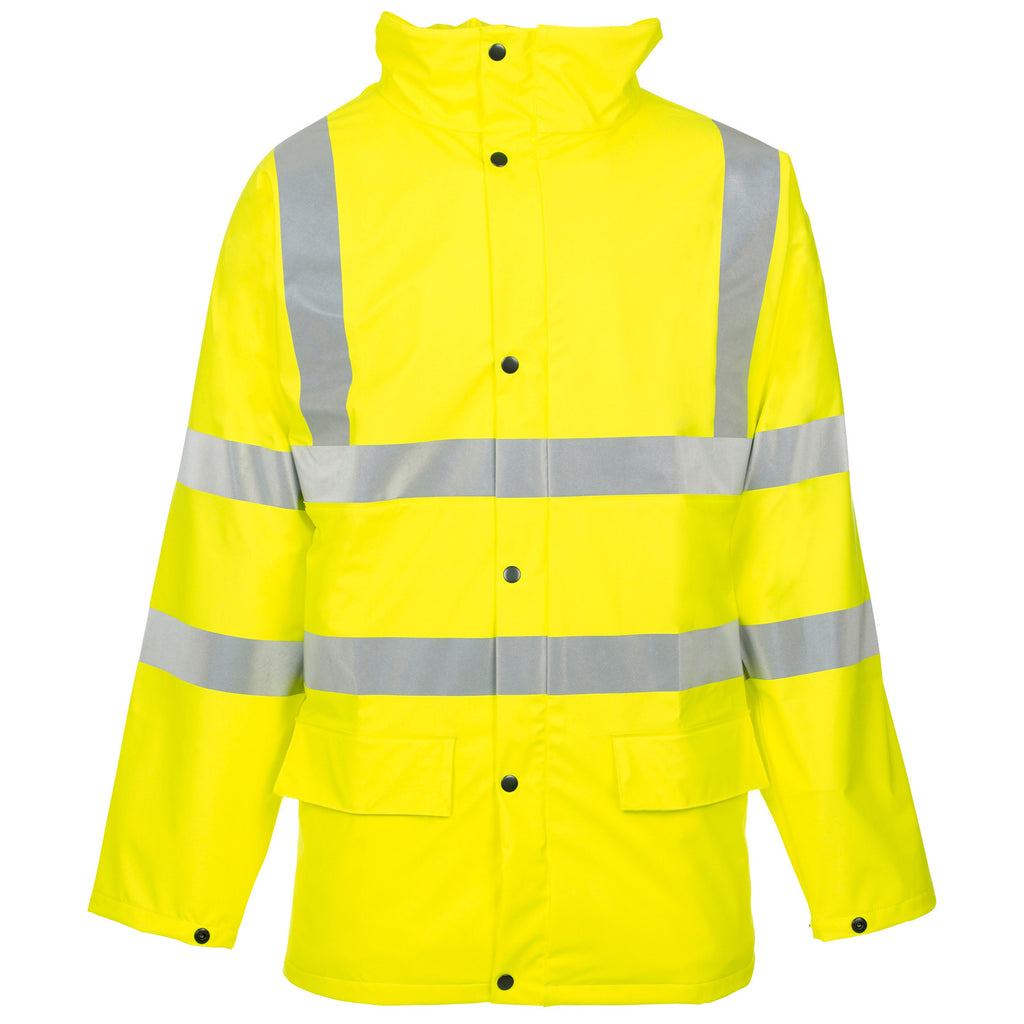 Supertouch Hi Vis Storm-Flex PU Padded Jacket - Yellow - Worklayers