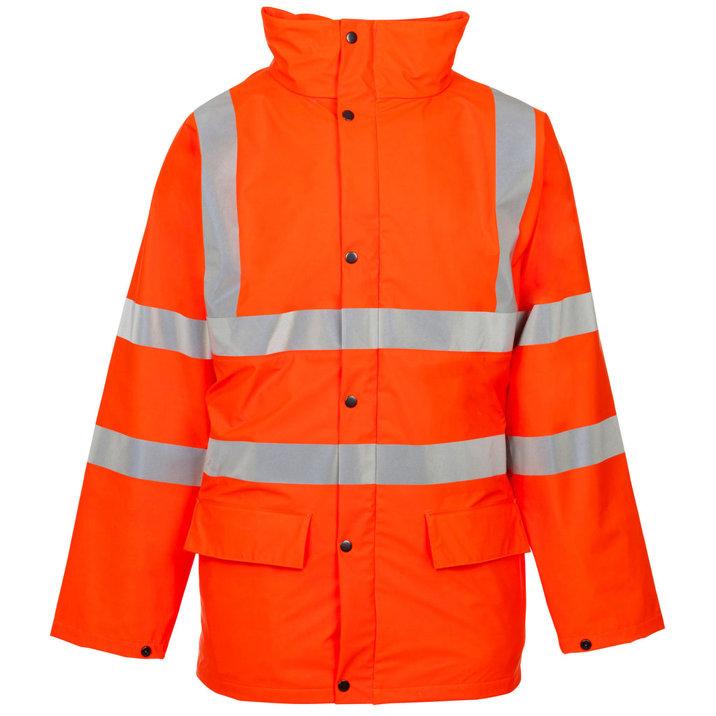 Supertouch Hi Vis Storm-Flex PU Padded Jacket - Orange - Worklayers