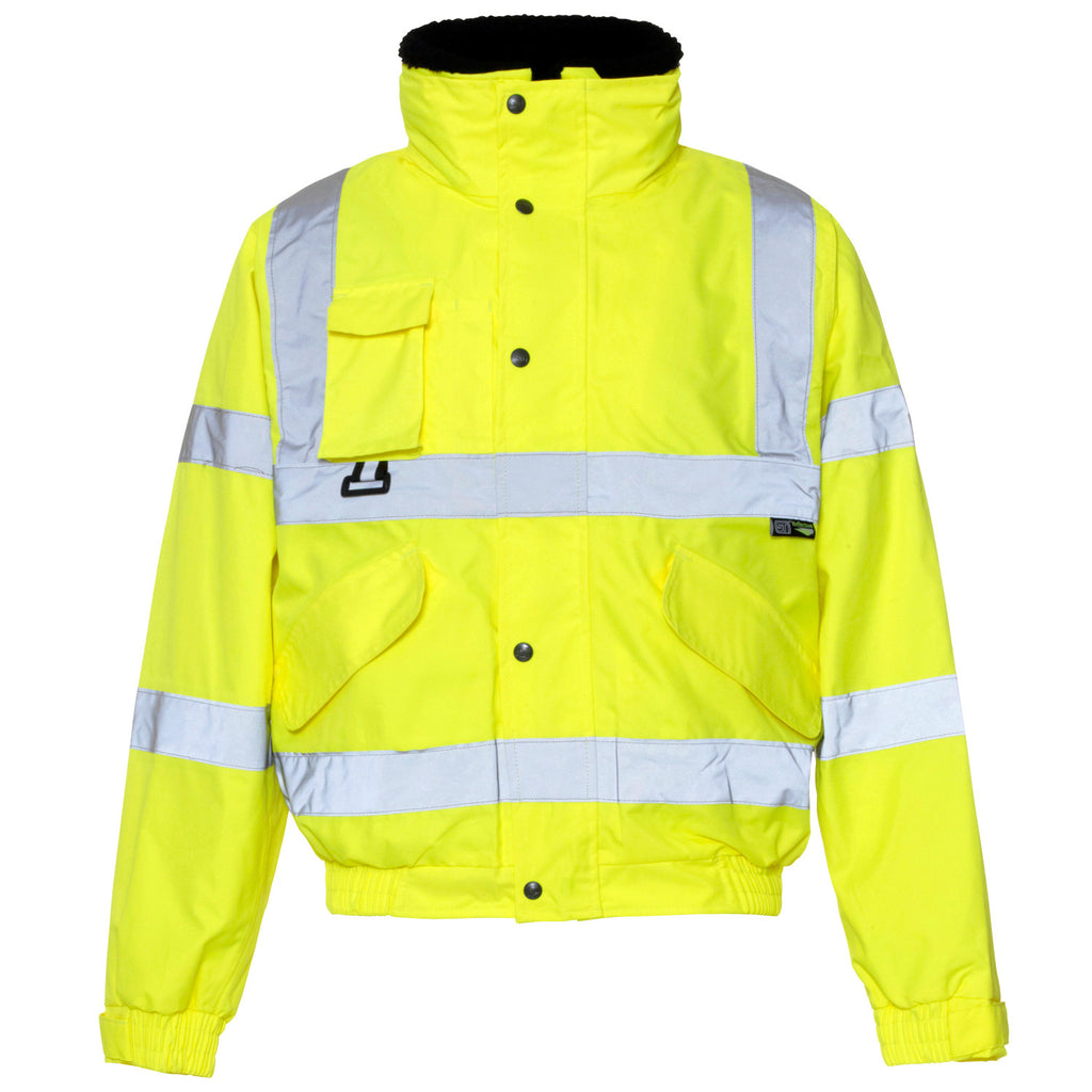 Hi Vis Breathable 2 in 1 Bomber Jacket Supertouch - Yellow - Worklayers