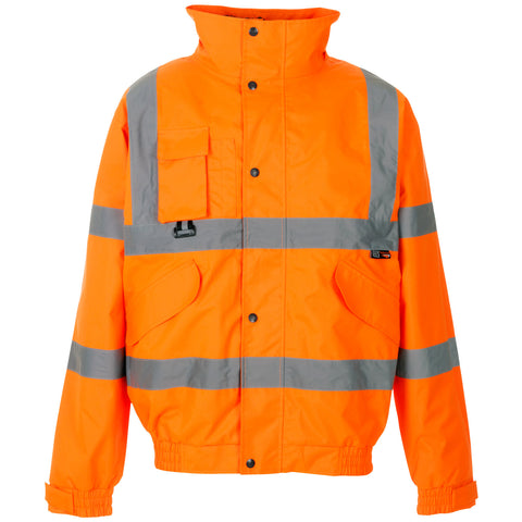 Supertouch Hi Vis Breathable 2 in 1 Bomber Jacket - Orange - Worklayers