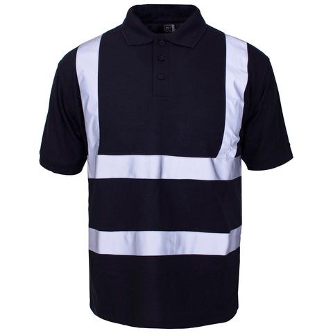 Supertouch Hi Vis Piqué Polo Shirt - Black - Worklayers