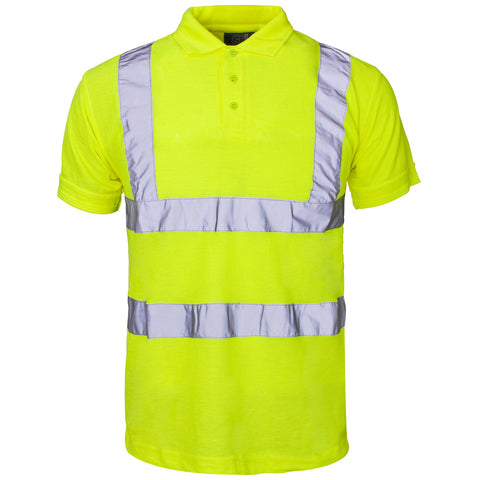 Supertouch Hi Vis Piqué Polo Shirt - Yellow - Worklayers