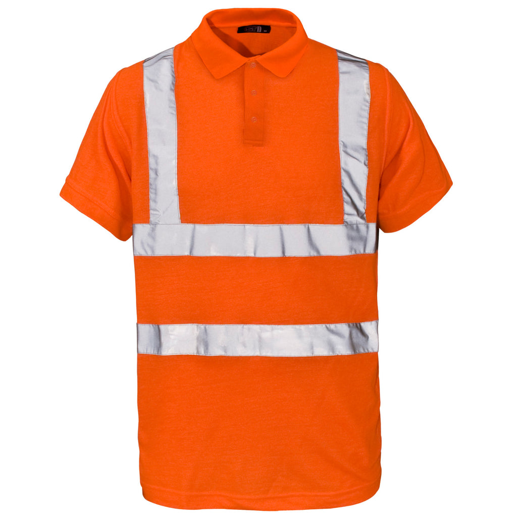 Supertouch Hi Vis Piqué Polo Shirt - Orange - Worklayers