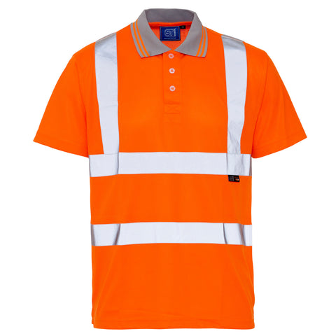 Supertouch Hi Vis Polo Shirt- Orange - Worklayers
