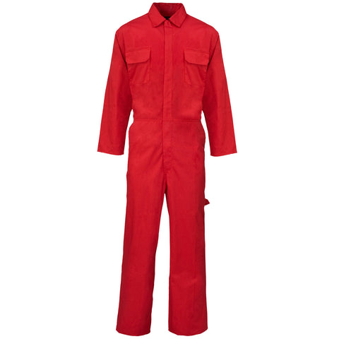 Supertouch PolyCotton Coverall - Red - Worklayers