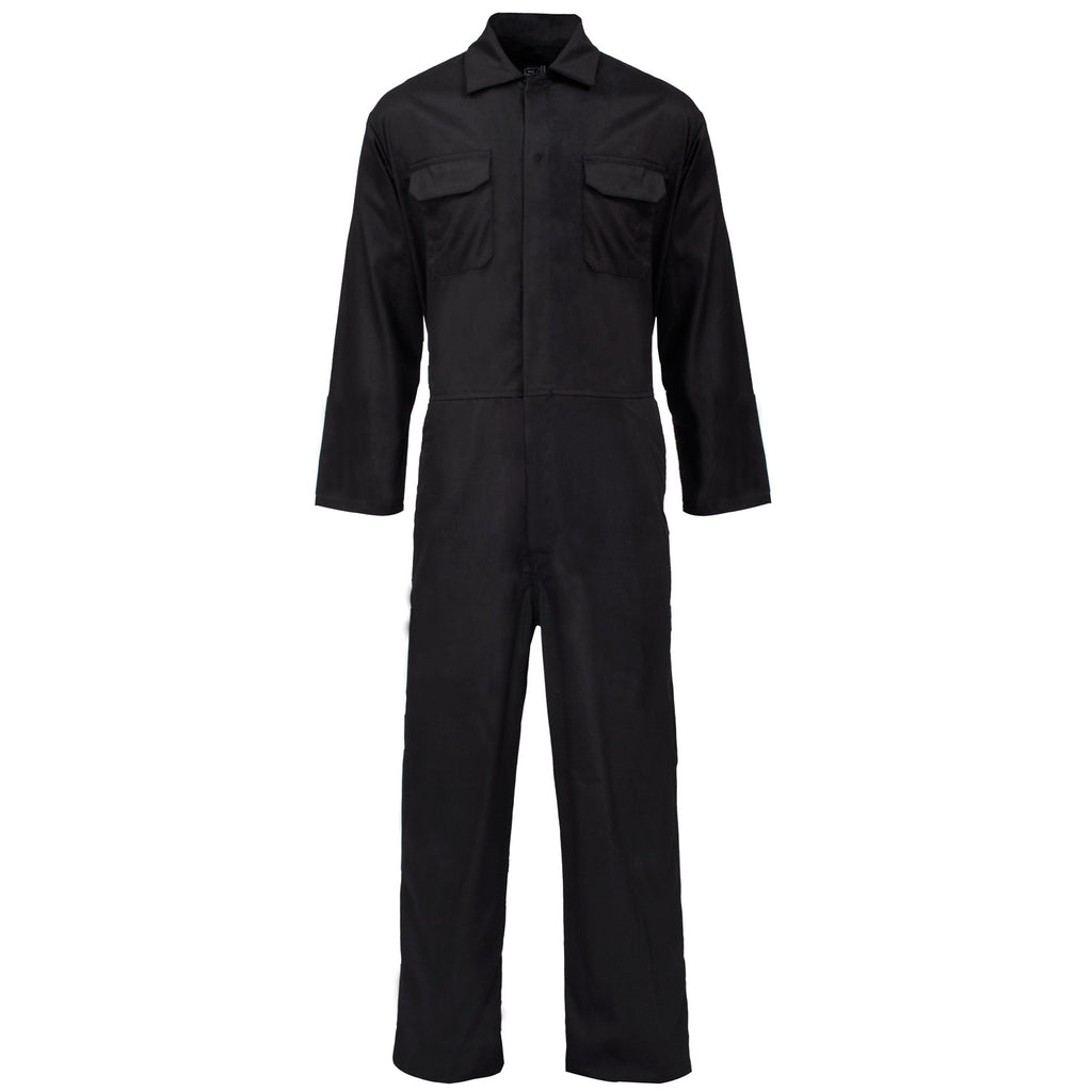 Supertouch PolyCotton Coverall - Black - Worklayers