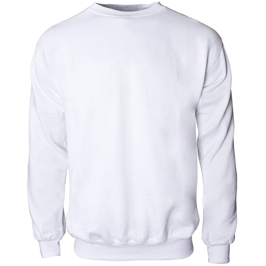 Crew Neck Sweatshirt - White - Worklayers