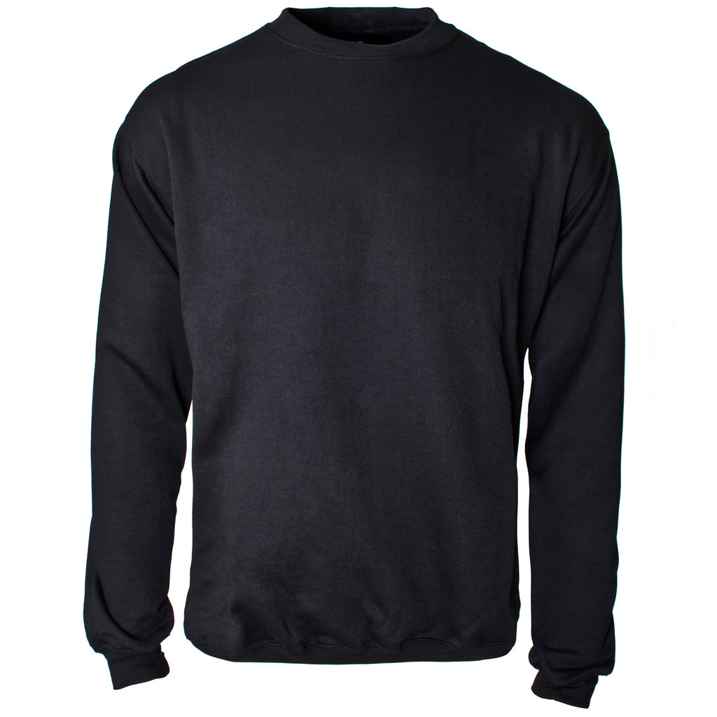 Crew Neck Sweatshirt Black- Supertouch
