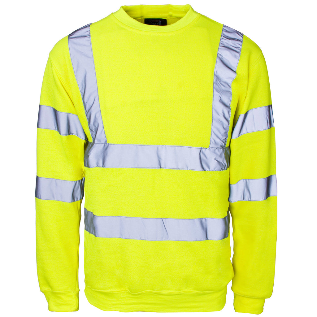 Supertouch Hi Vis Sweatshirt - Yellow - Worklayers