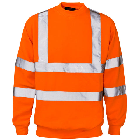 Supertouch Hi Vis Sweatshirt - Orange - Worklayers
