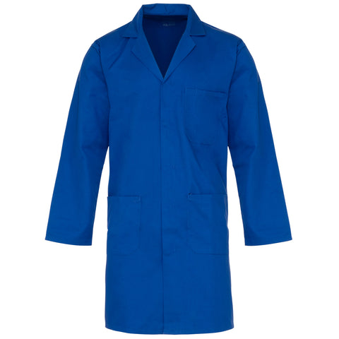 Supertouch Polycotton Lab Coat - Royal Blue - Worklayers