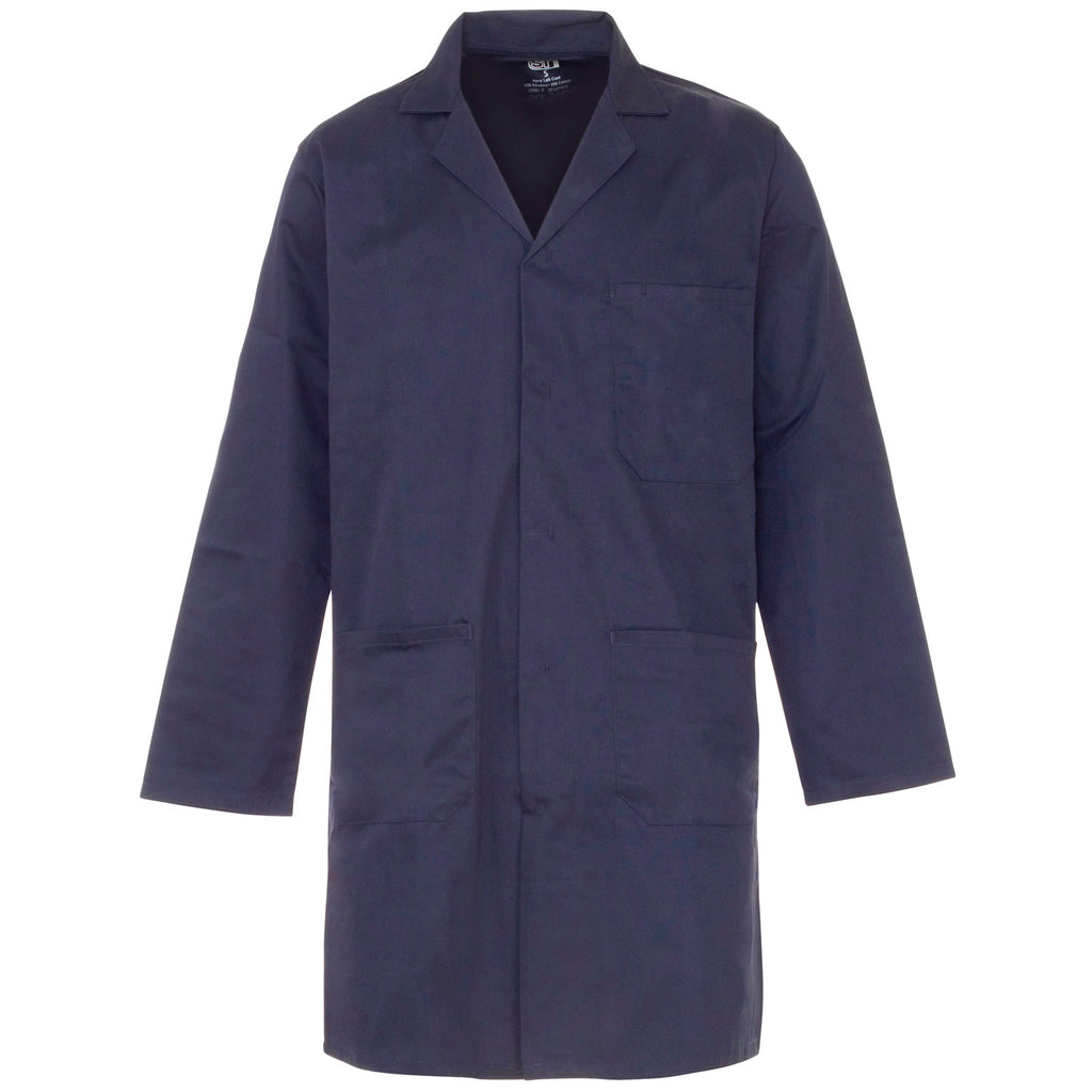 Supertouch Polycotton Lab Coat - Navy - Worklayers
