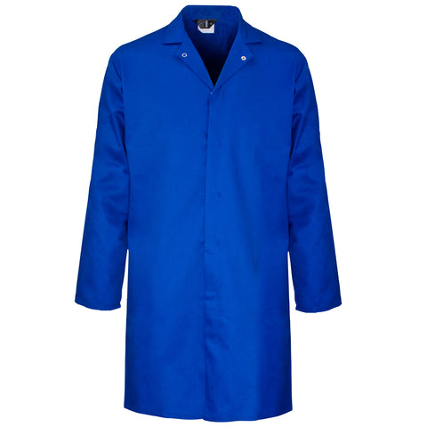 Supertouch Polycotton Food Coat - Royal Blue - Worklayers