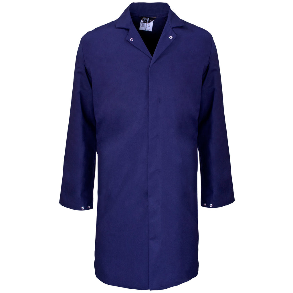 Supertouch Polycotton Food Coat - Navy - Worklayers