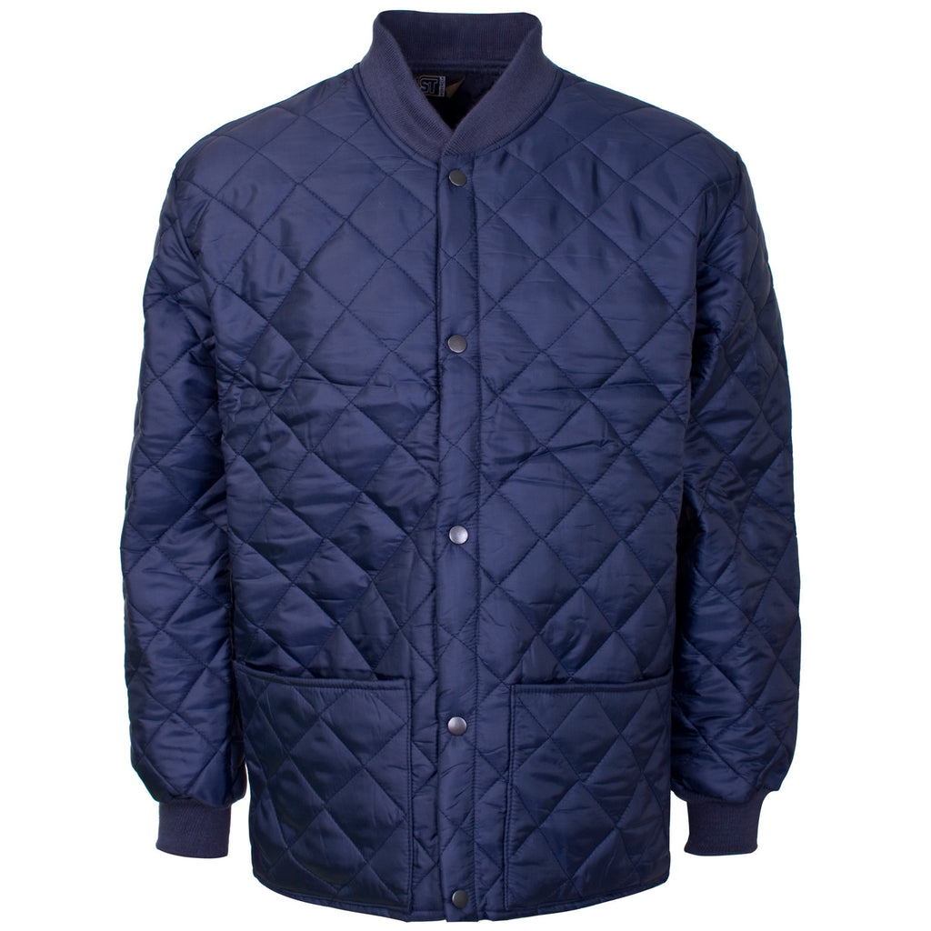 Supertouch Quilted Shell Jacket - Navy - Worklayers