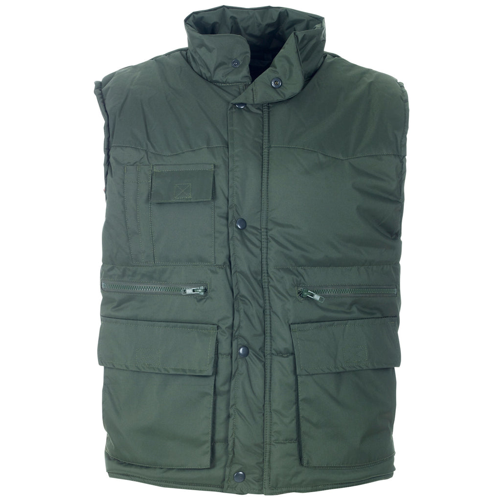 Supertouch Multipocket Bodywarmer - Green - Worklayers