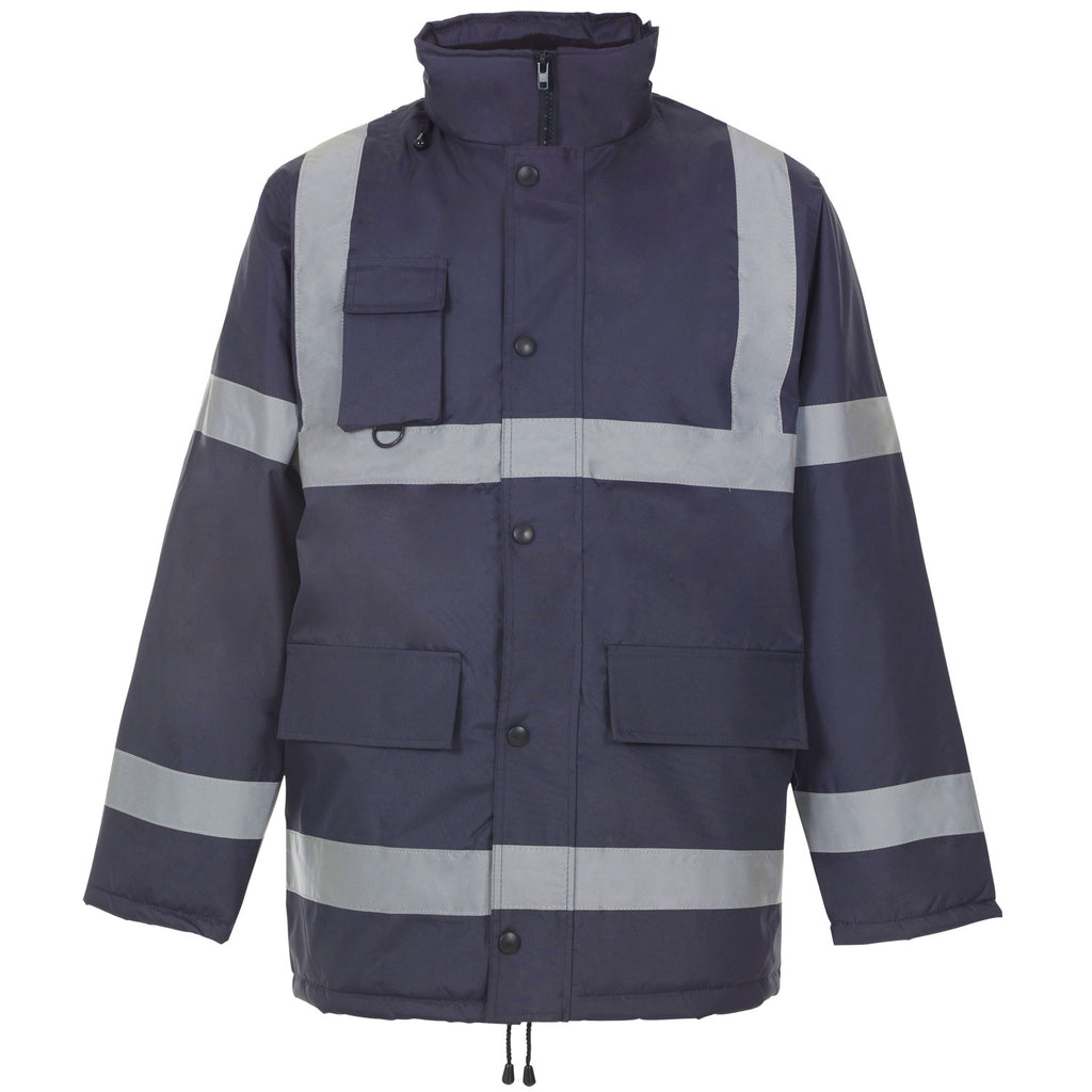 Supertouch Hi Vis Security Jacket - Navy - Worklayers