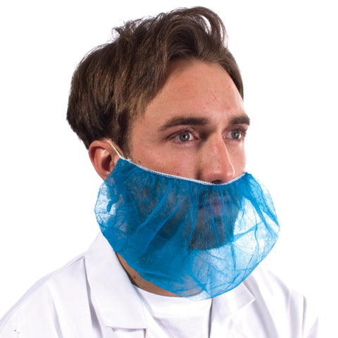 Blue Disposable Beard Snood - Worklayers