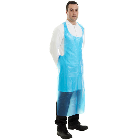 Blue disposable apron from Worklayers