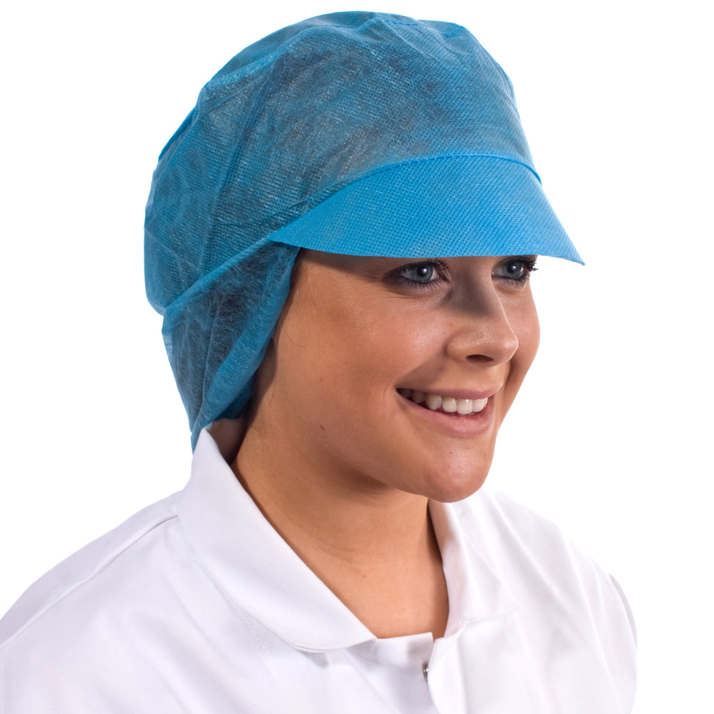 Blue Disposable Snood Cap - Worklayers