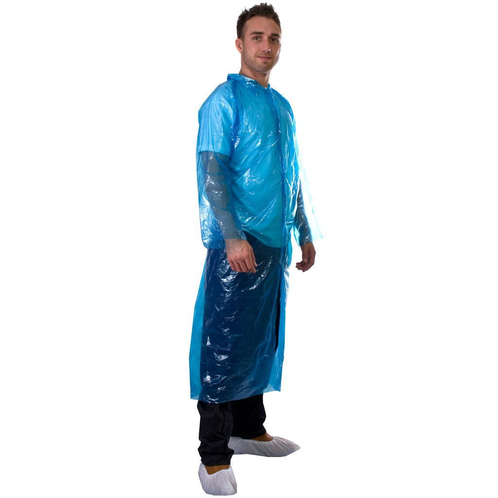 Blue Disposable Coats - PE Visitor Coats - Worklayers