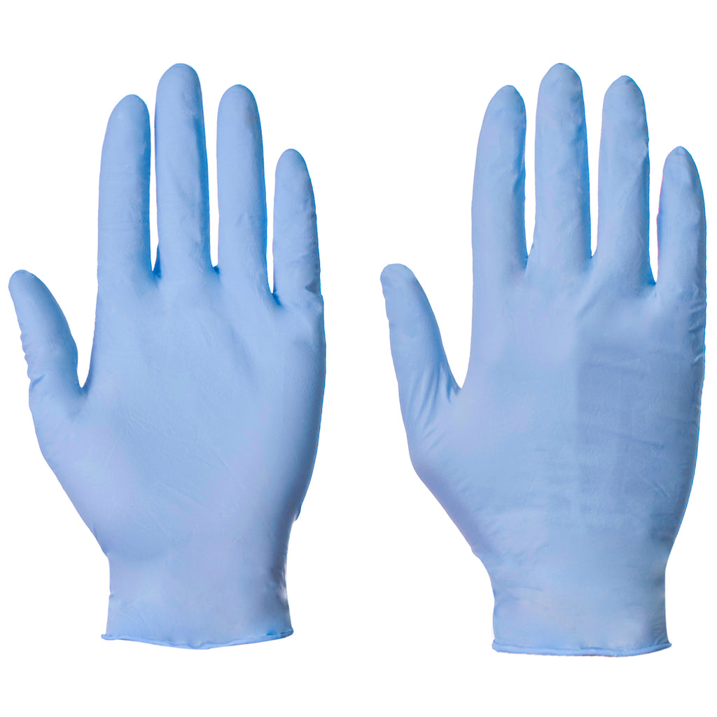 Blue Nitrile Gloves - Worklayers