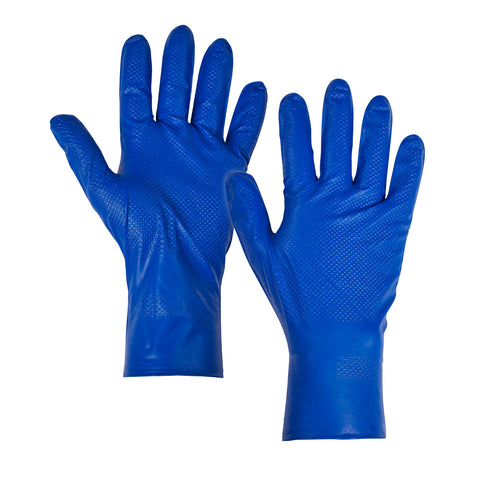 Blue Nitrile Gloves Long Cuff - Worklayers