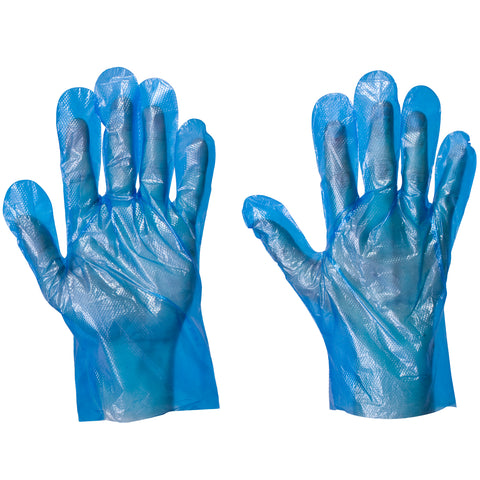 Blue Plastic Gloves - Worklayers