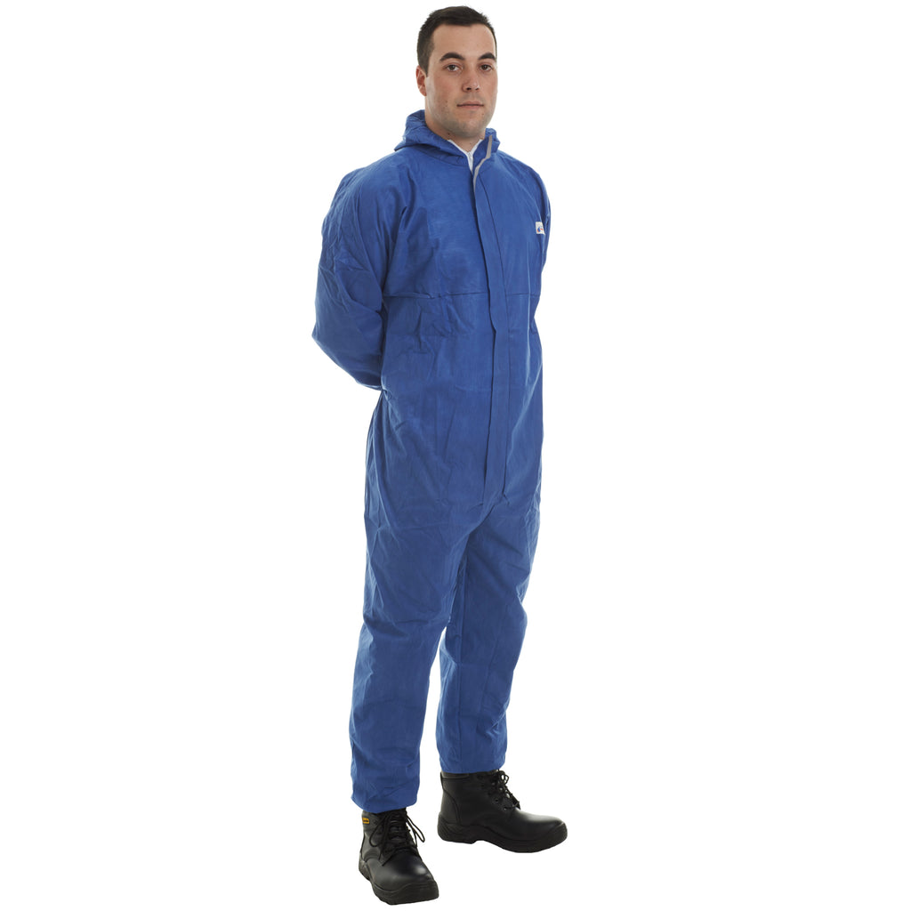 Blue disposable Cat 3 Type 56 SMS Coverall - Worklayers
