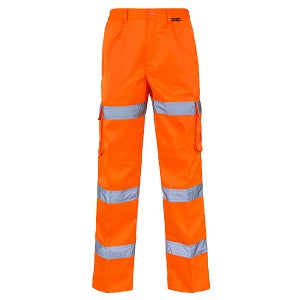 Hi Vis Trousers Combat 3 Band - Orange